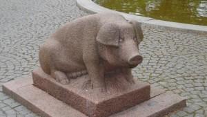 Das Schweinedenkmal von Grenaa