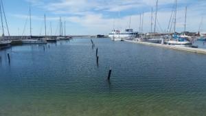 Hafen Anholt in der Vorsaison