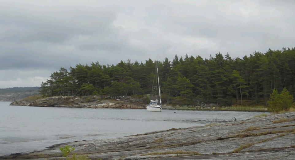Skagerak bei Koljön, könnte auch als Binnensee durchgehen